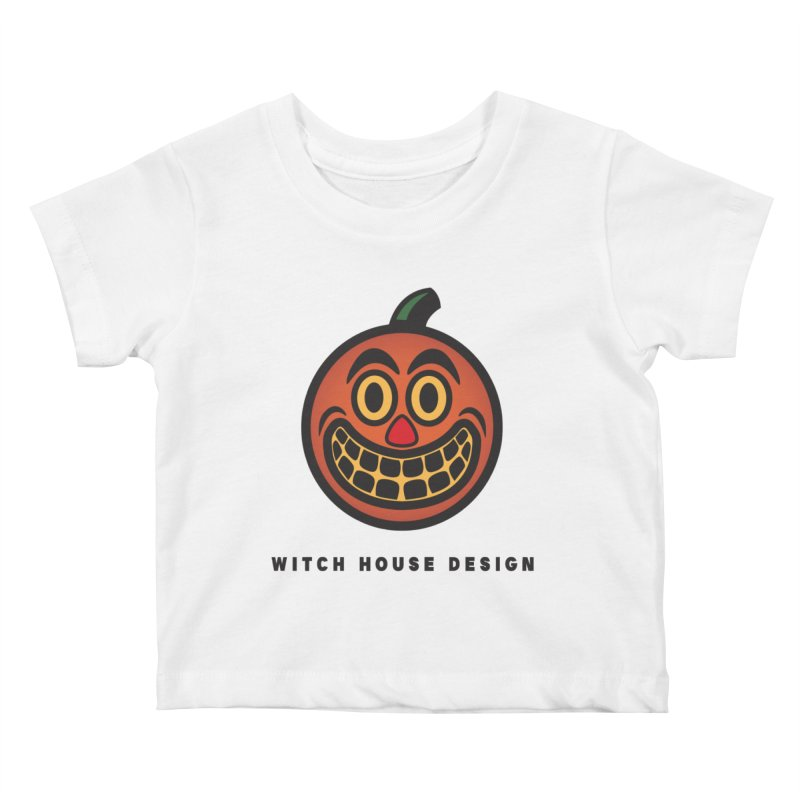 Jack O' Lantern Kids Baby T-Shirt by Witch House Design
