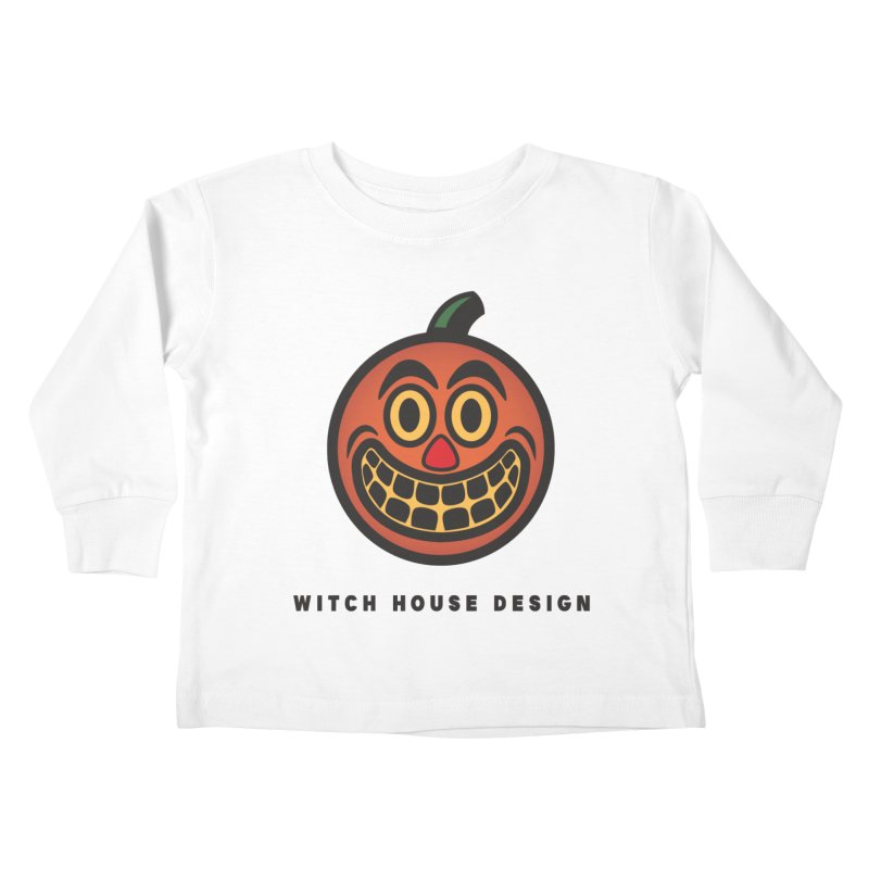 Jack O' Lantern Kids Toddler Longsleeve T-Shirt by Witch House Design