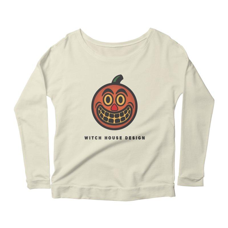 Jack O' Lantern Women's Scoop Neck Longsleeve T-Shirt by Witch House Design