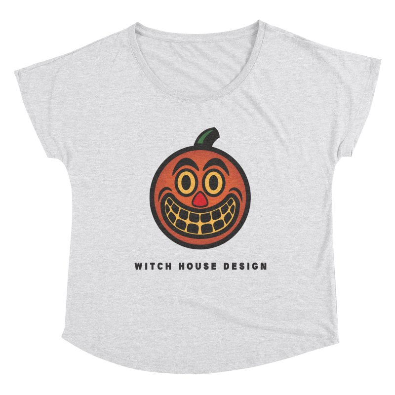 Jack O' Lantern Women's Dolman Scoop Neck by Witch House Design