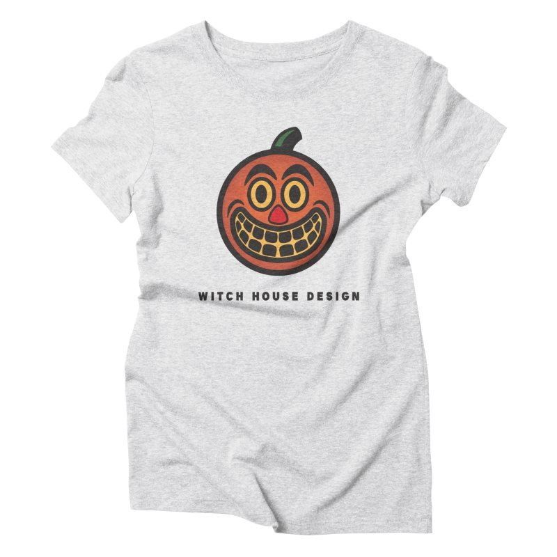 Jack O' Lantern Women's Triblend T-Shirt by Witch House Design