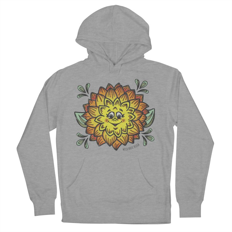 Dahlia Men's French Terry Pullover Hoody by Witch House Design