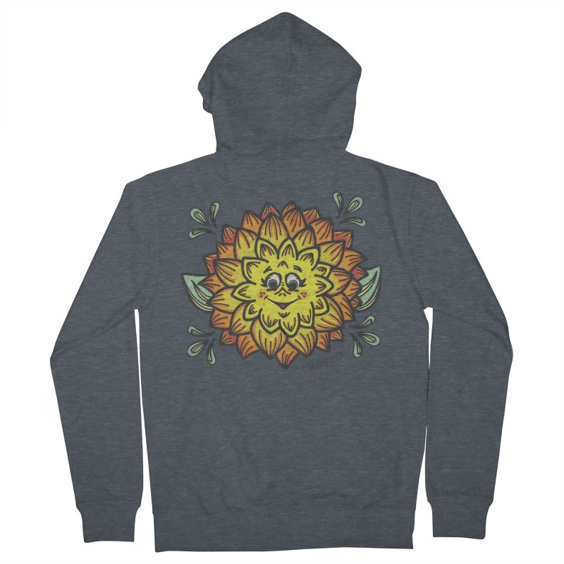 Dahlia Women's French Terry Zip-Up Hoody by Witch House Design