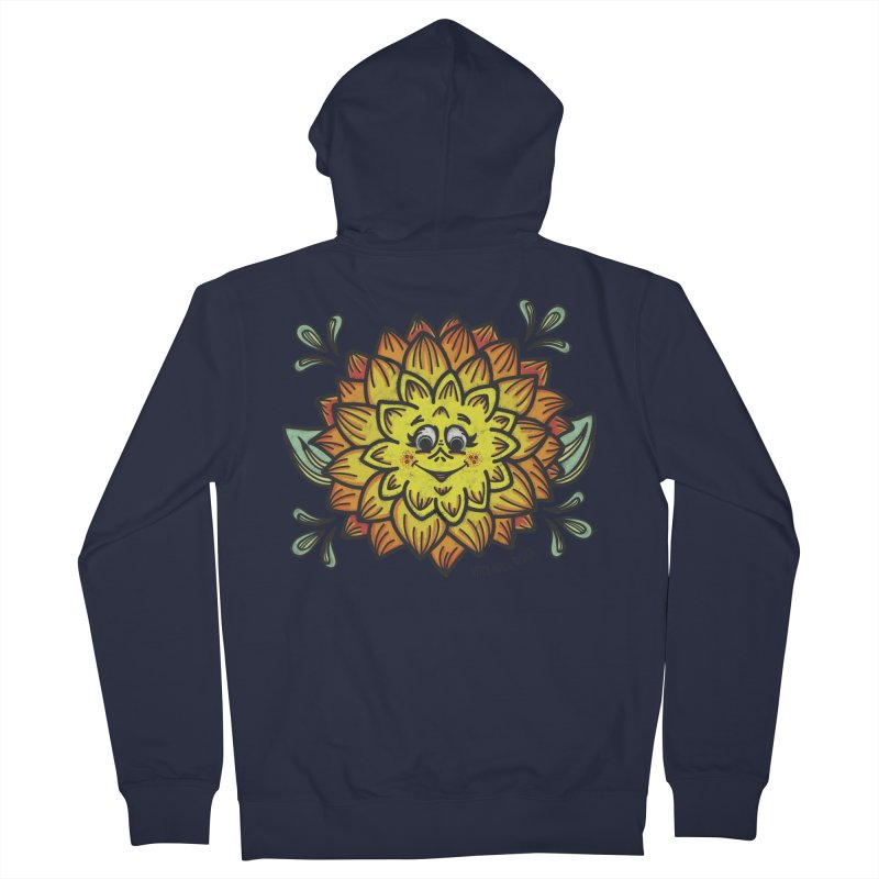 Dahlia Men's French Terry Zip-Up Hoody by Witch House Design