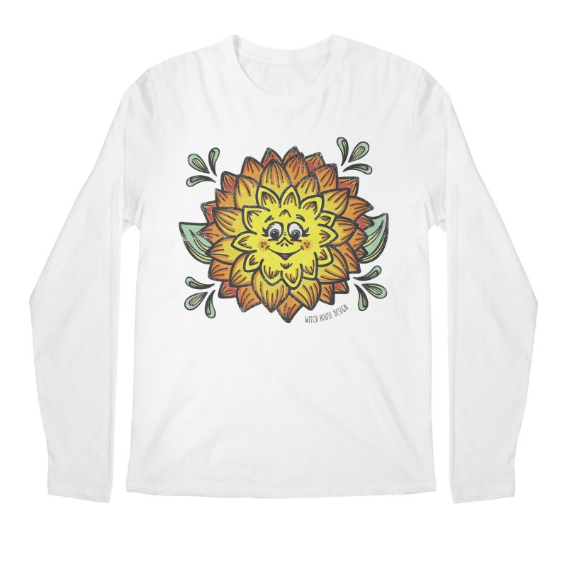Dahlia Men's Regular Longsleeve T-Shirt by Witch House Design