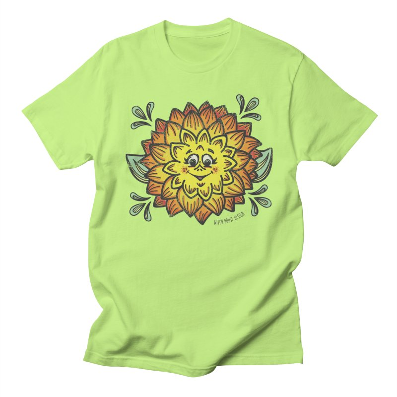 Dahlia Men's Regular T-Shirt by Witch House Design