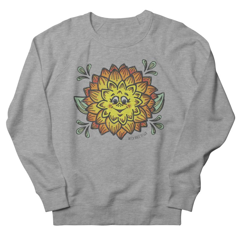 Dahlia Men's French Terry Sweatshirt by Witch House Design