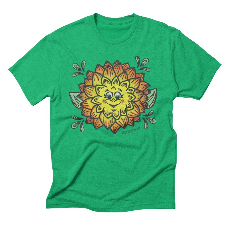 Dahlia Men's Triblend T-Shirt by Witch House Design