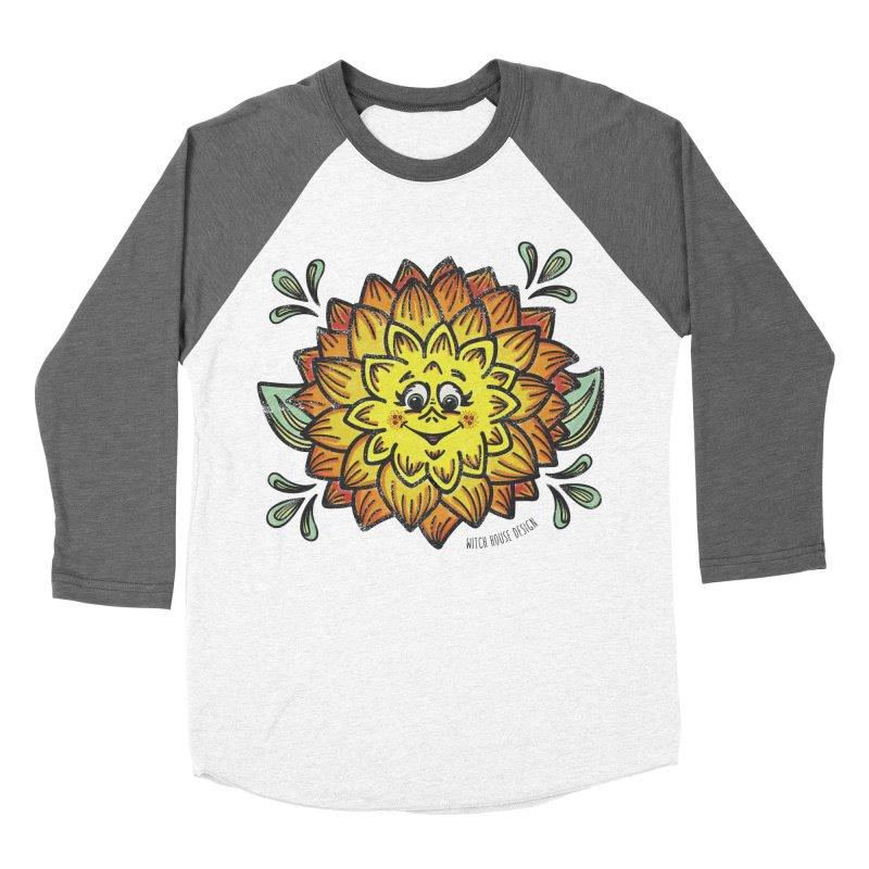 Dahlia Women's Baseball Triblend Longsleeve T-Shirt by Witch House Design