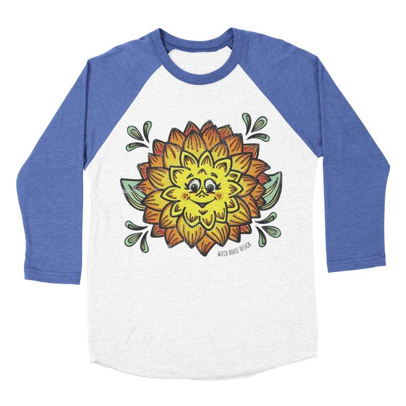 Dahlia Men's Baseball Triblend Longsleeve T-Shirt by Witch House Design