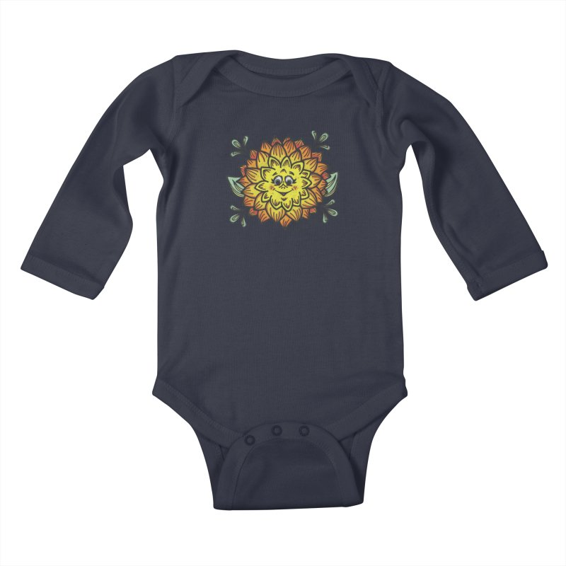 Dahlia Kids Baby Longsleeve Bodysuit by Witch House Design
