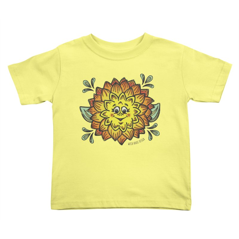 Dahlia Kids Toddler T-Shirt by Witch House Design