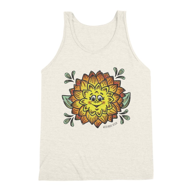 Dahlia Men's Triblend Tank by Witch House Design