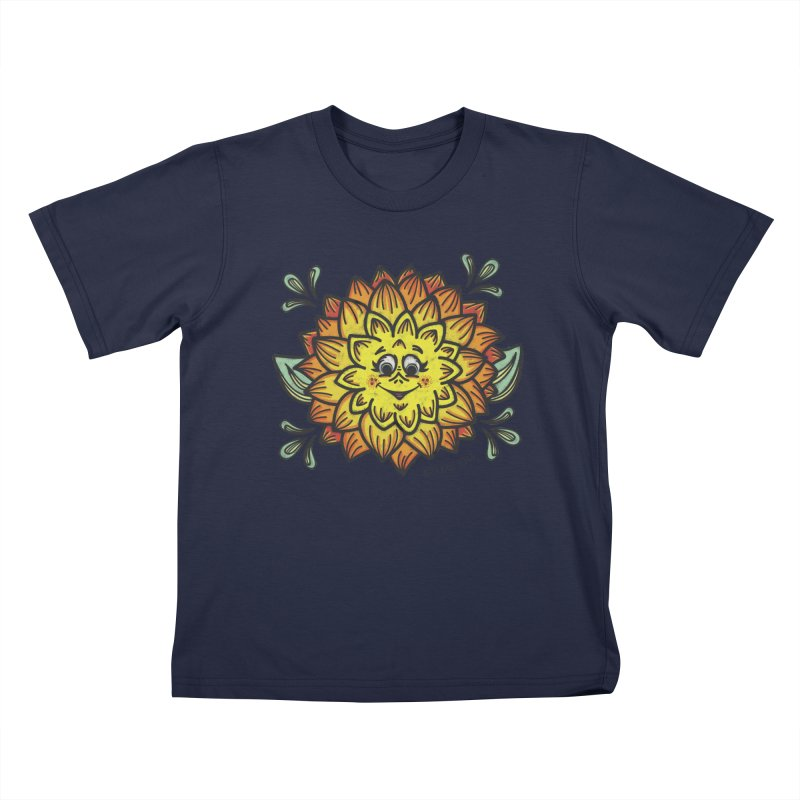 Dahlia Kids T-Shirt by Witch House Design