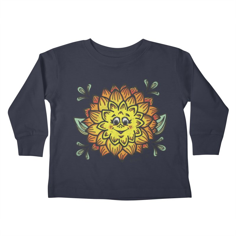 Dahlia Kids Toddler Longsleeve T-Shirt by Witch House Design