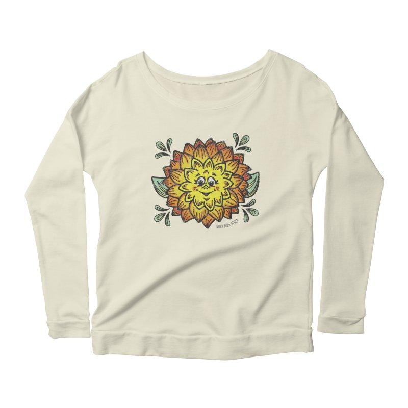 Dahlia Women's Scoop Neck Longsleeve T-Shirt by Witch House Design