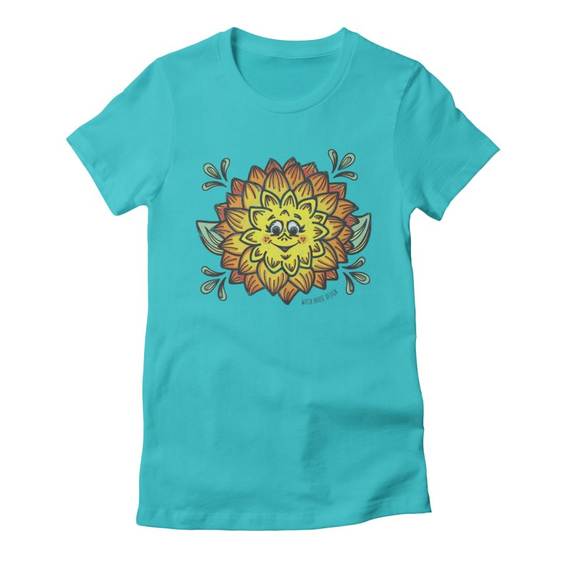 Dahlia Women's Fitted T-Shirt by Witch House Design