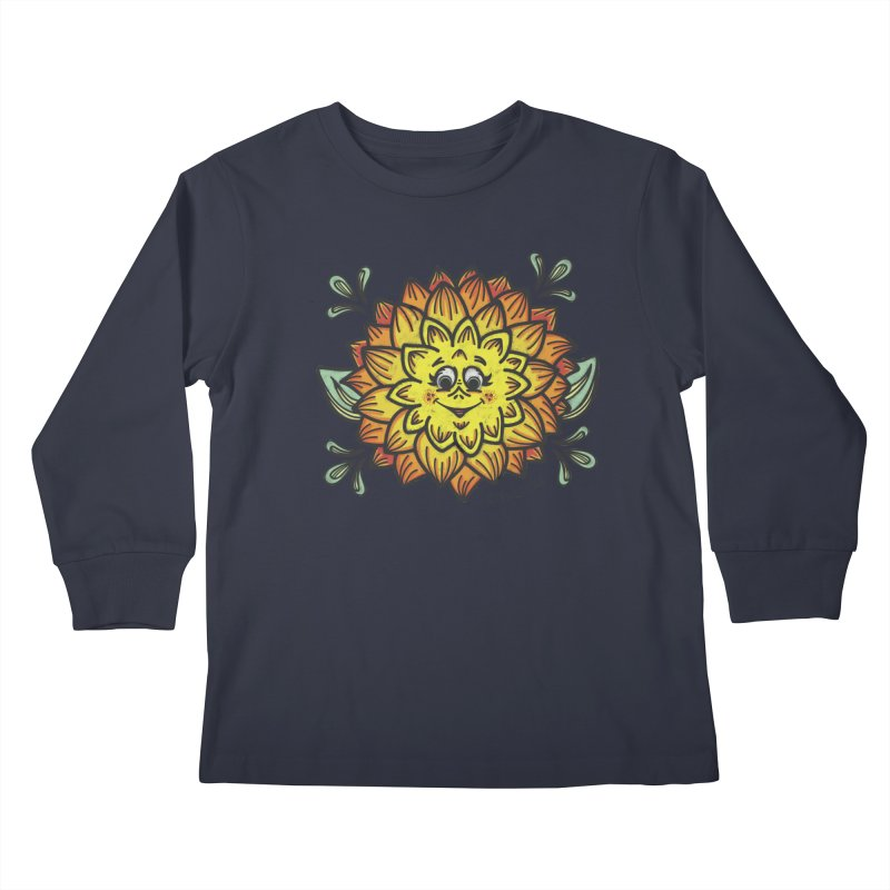 Dahlia Kids Longsleeve T-Shirt by Witch House Design