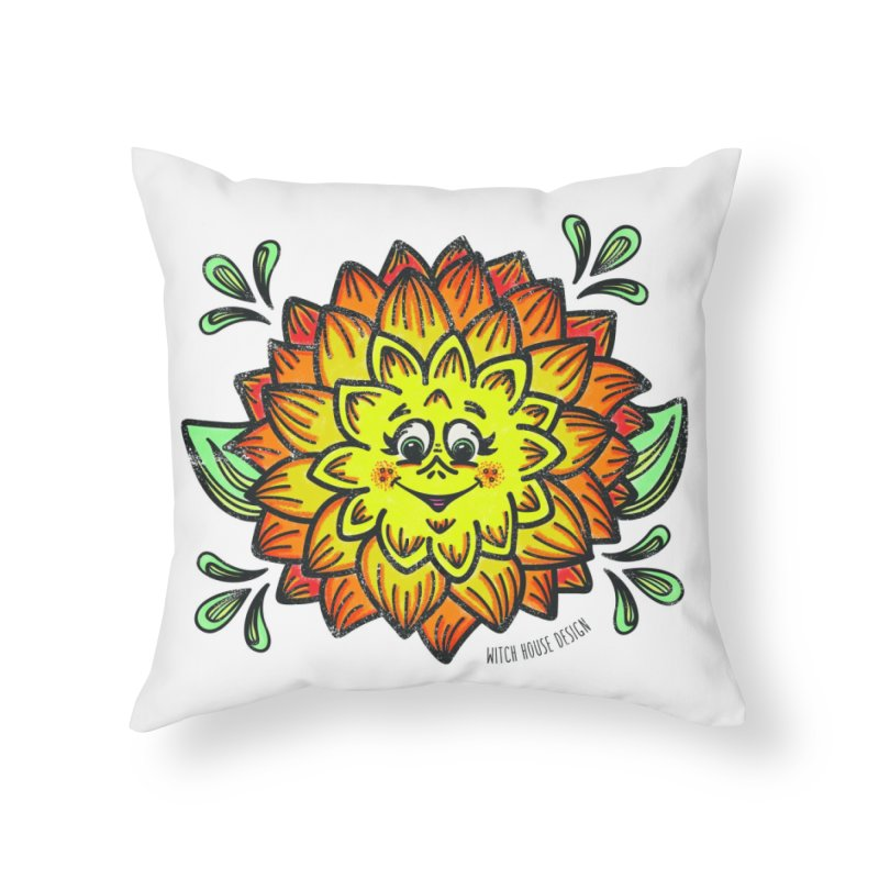 Dahlia Home Throw Pillow by Witch House Design