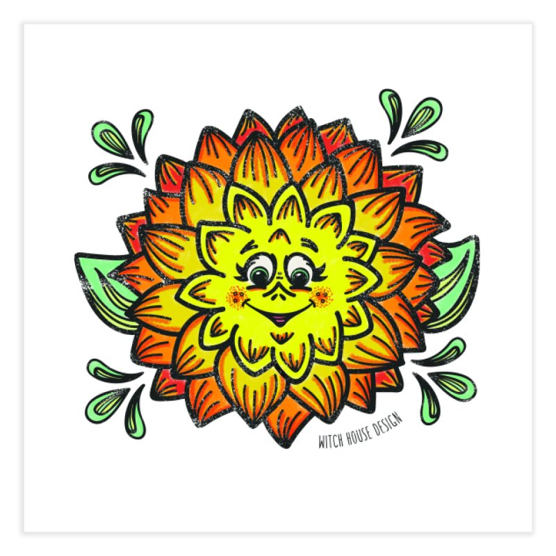 Dahlia Home Fine Art Print by Witch House Design