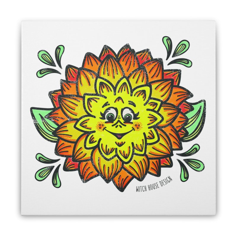 Dahlia Home Stretched Canvas by Witch House Design