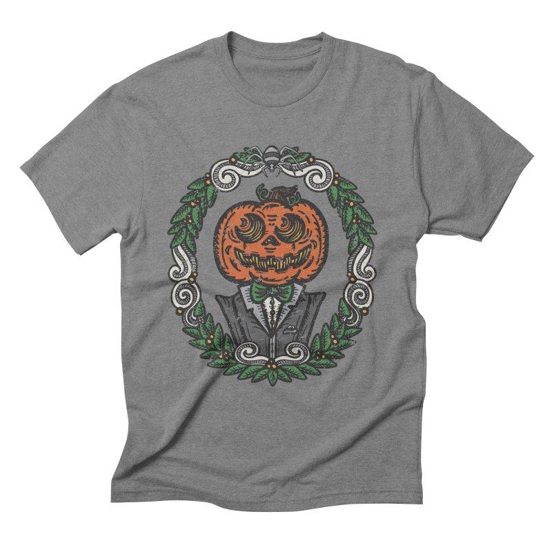 Pumpkin Gentleman Portrait | Full Color Men's T-Shirt by Witch House Design