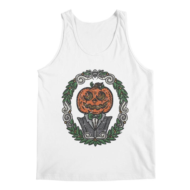 Pumpkin Gentleman Portrait | Full Color Men's Tank by Witch House Design
