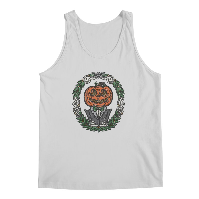 Pumpkin Gentleman Portrait   Full Color Men's Regular Tank by Witch House Design