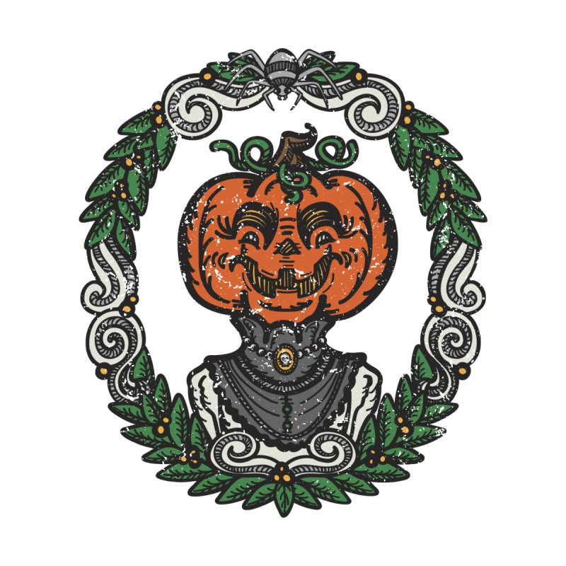 Pumpkin Lady Portrait | Full Color by Witch House Design
