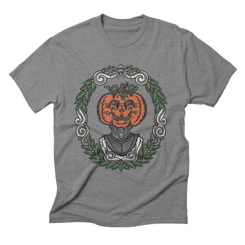 Pumpkin Lady Portrait | Full Color Men's T-Shirt by Witch House Design