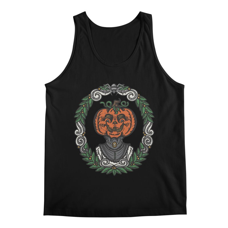 Pumpkin Lady Portrait | Full Color Men's Regular Tank by Witch House Design