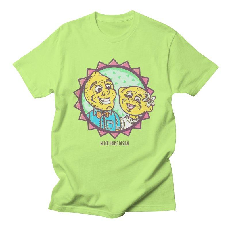 Easy Breezy Lemons Men's Regular T-Shirt by Witch House Design