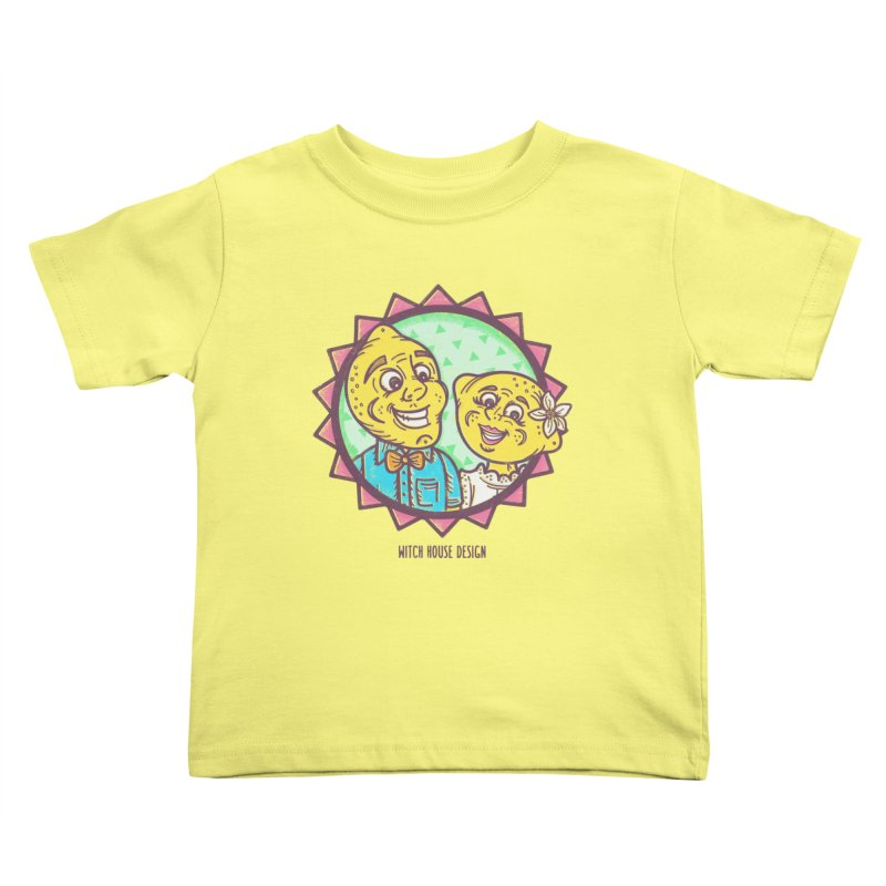 Easy Breezy Lemons Kids Toddler T-Shirt by Witch House Design
