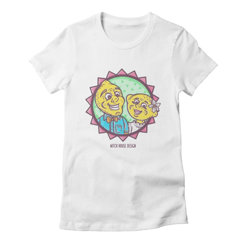 Easy Breezy Lemons Women's Fitted T-Shirt by Witch House Design