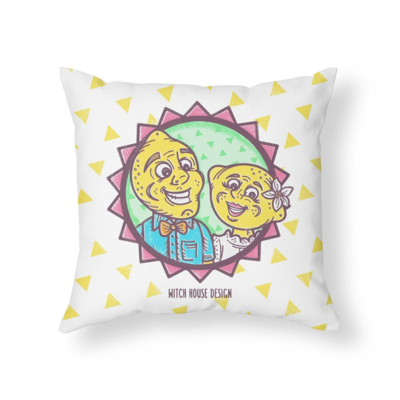 Easy Breezy Lemons Home Throw Pillow by Witch House Design