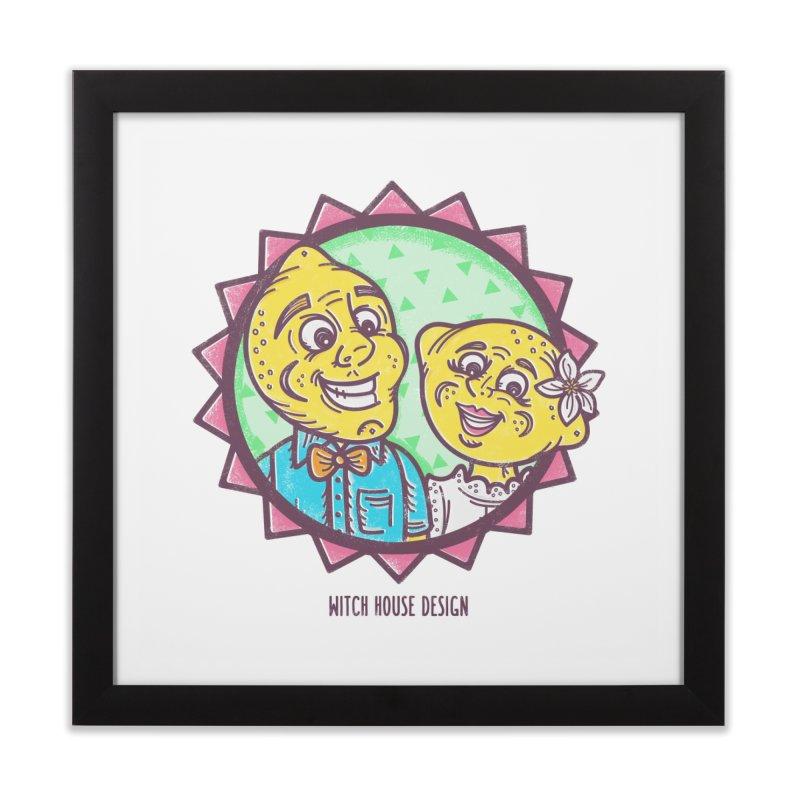 Easy Breezy Lemons Home Framed Fine Art Print by Witch House Design