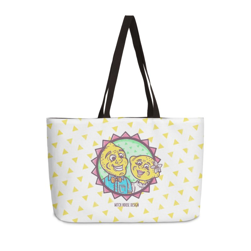 Easy Breezy Lemons Accessories Weekender Bag Bag by Witch House Design