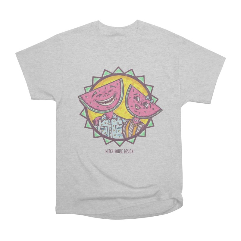 Cheerful Watermelons Women's Heavyweight Unisex T-Shirt by Witch House Design