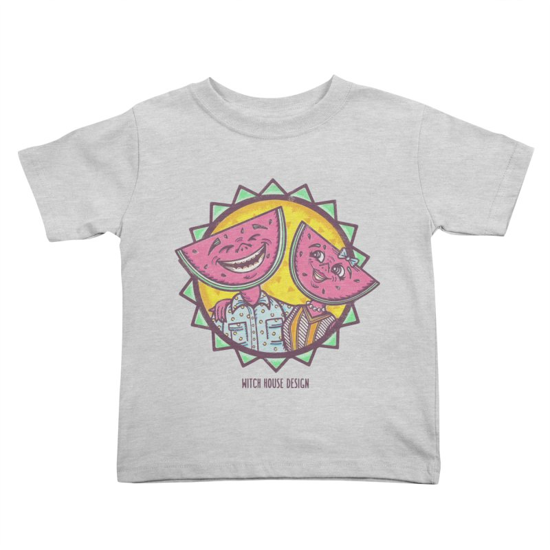 Cheerful Watermelons Kids Toddler T-Shirt by Witch House Design