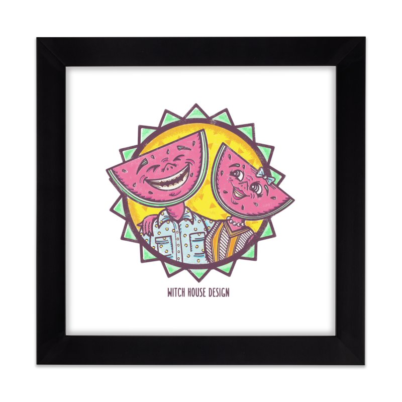 Cheerful Watermelons Home Framed Fine Art Print by Witch House Design
