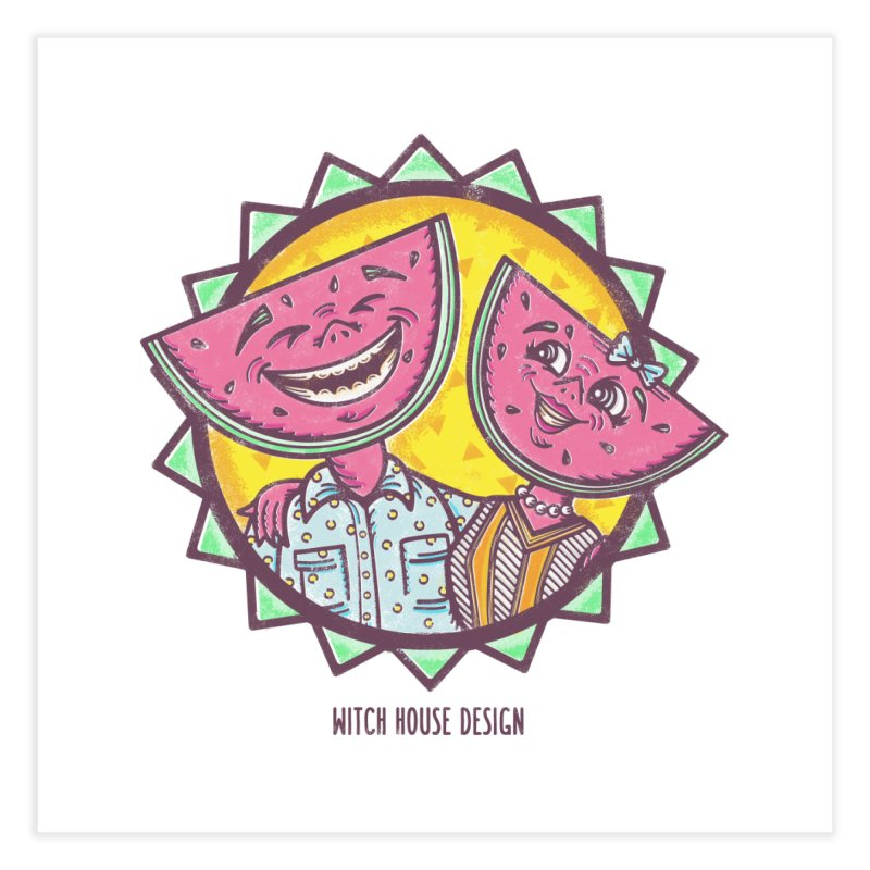 Cheerful Watermelons Home Fine Art Print by Witch House Design