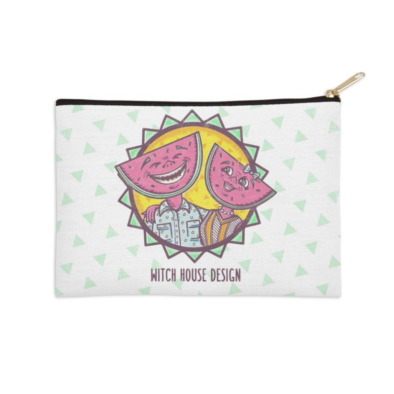 Cheerful Watermelons Accessories Zip Pouch by Witch House Design