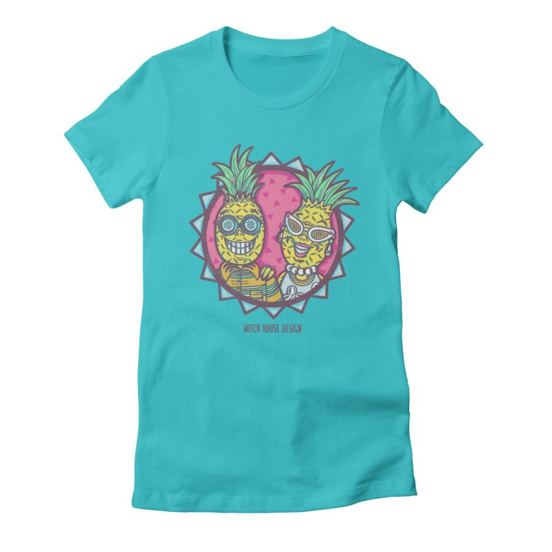 Pineapples in Paradise Women's T-Shirt by Witch House Design