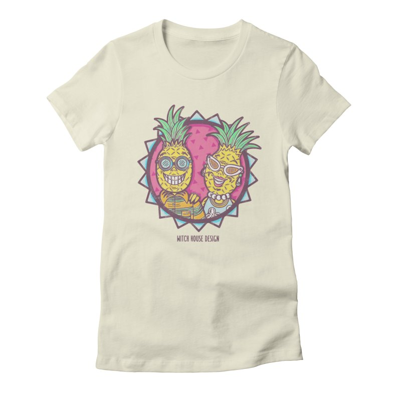 Pineapples in Paradise Women's Fitted T-Shirt by Witch House Design