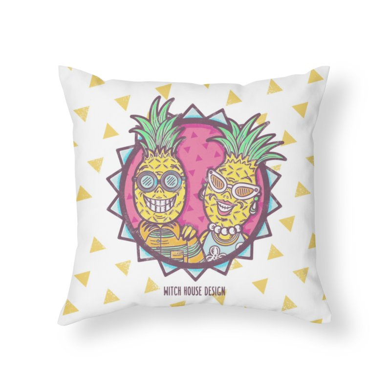 Pineapples in Paradise Home Throw Pillow by Witch House Design