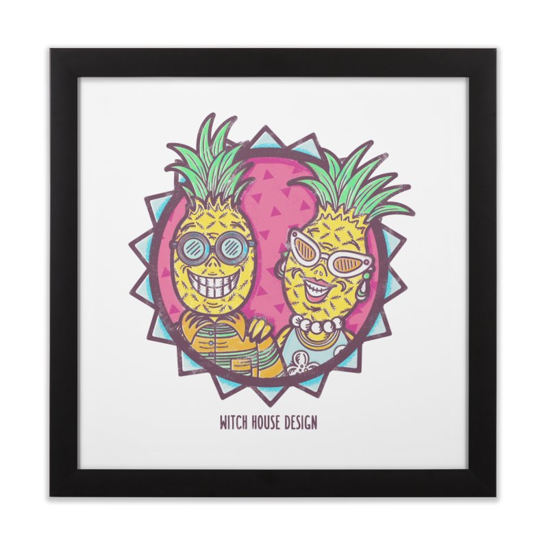 Pineapples in Paradise Home Framed Fine Art Print by Witch House Design