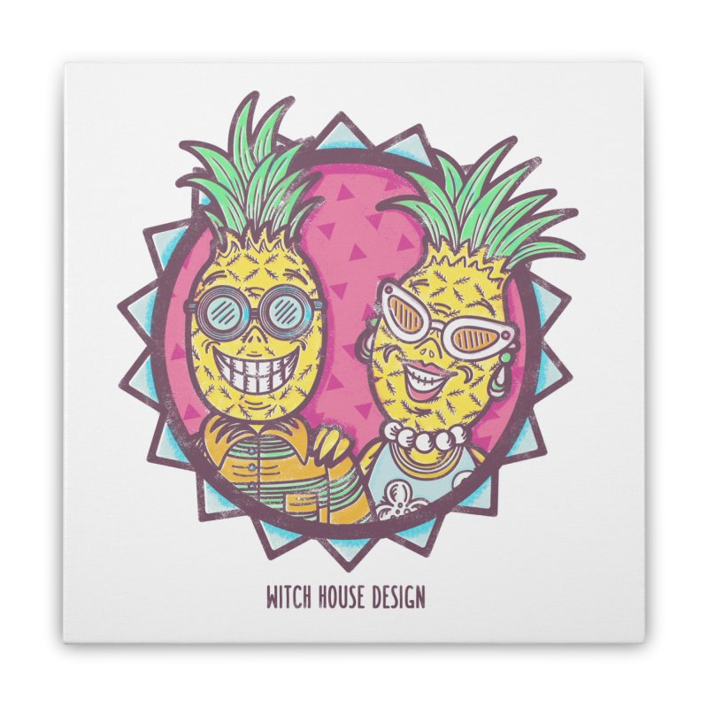Pineapples in Paradise Home Stretched Canvas by Witch House Design