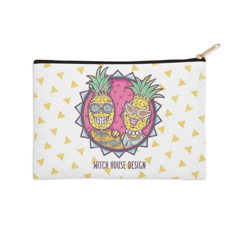 Pineapples in Paradise Accessories Zip Pouch by Witch House Design