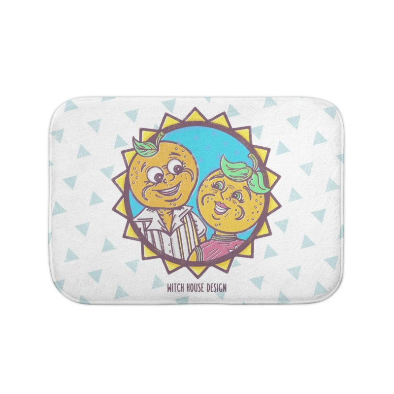 Sun-sational Oranges Home Bath Mat by Witch House Design