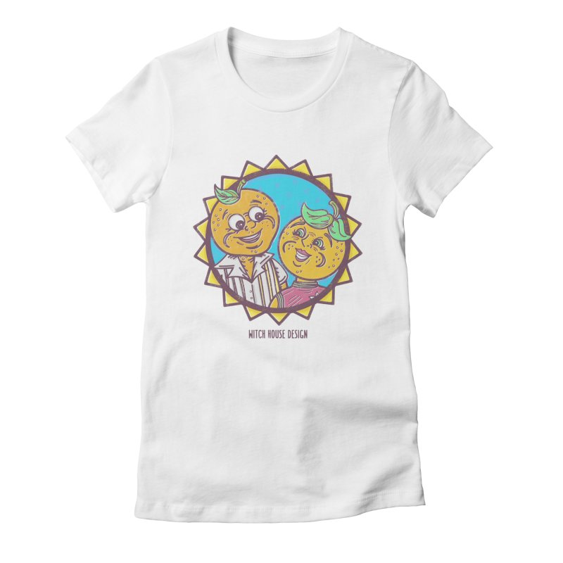 Sun-sational Oranges Women's Fitted T-Shirt by Witch House Design